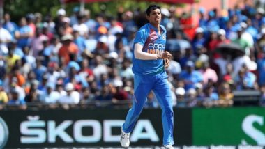 Navdeep Saini Impresses on International Debut, Picks Two Wickets in His First Over During India vs West Indies 1st T20I 2019