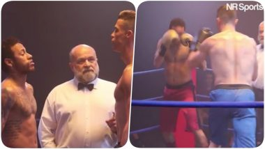 Cristiano Ronaldo and Neymar Jr Take on Each Other in the Boxing Ring (Watch Video)