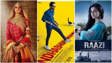 IIFA 2019: Ayushmann Khurrana's Andhadhun Leads with 13 Nominations Followed by Alia Bhatt's Raazi and Deepika Padukone's Padmaavat