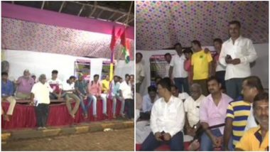 BEST Workers in Mumbai Continue Indefinite Hunger Strike Outside Wadala Depo Over Long-Pending Demands