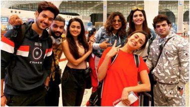 Khatron Ke Khiladi 10: Karan Patel, Karishma Tanna, Tejasswi Prakash and Others Jet Off to Bulgaria for Rohit Shetty's Stunt Reality Show (View Pics)