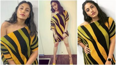 Sanjivani 2 Actress Surbhi Chandna's Asymmetric Off-Shoulder Dress Is All We Need in This Mucky Monsoon!