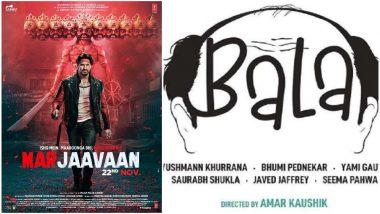 Sidharth Malhotra's Marjaavaan to Avoid Clash with Ayushmann Khurrana's Bala, Will Now Release on November 8, 2019