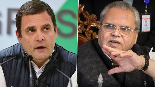 Rahul Gandhi Accepts Jammu And Kashmir Governor Satya Pal Malik's Invite to Visit Valley, Says 'I Don't Need Aircraft, But Freedom to Travel, Meet People'