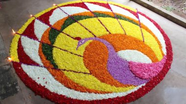 Easy Pookalam Designs for Onam 2019: Simple Floral Rangoli Designs & Patterns to Decorate Home on Thiru Onam (View Images and Videos)