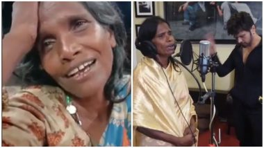 Himesh Reshammiya Keeps His Word, Viral Kolkata Singer Ranu Mandol Just Recorded a Song For His Film (Watch Video)