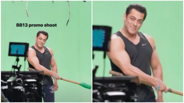 Bigg Boss 13: Salman Khan Starts Shooting for the First Promo, Drops Picture from the Sets