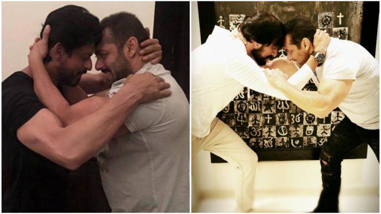Salman Khan's Pic with Dabangg 3 Co-star Kichcha Sudeep Will Remind You of His Snap with Shah Rukh Khan