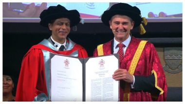 Shah Rukh Khan Receives Honorary Doctorate in Melbourne for His Humanitarian Work for Women