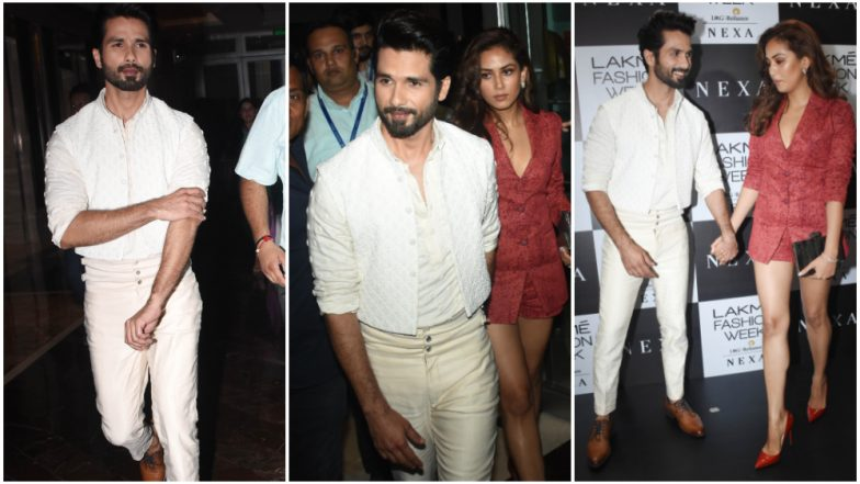 LFW Winter/Festive 2019: Shahid Kapoor and Mira Rajput Step Out Looking All Sexy and Classy (See Pics)