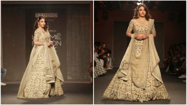 LFW Winter/Festive 2019: Soha Ali Khan's Royal Outing Leave You Mesmerised (See Pics)