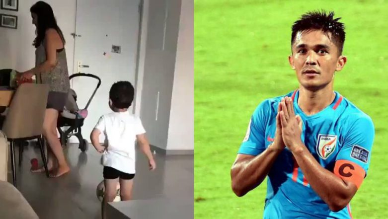 Sunil Chhetri Shares Video of His Son Nutmegging and It Is Beautiful, Check Out Indian Football Team Captain's Inspirational Post