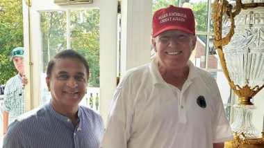 Sunil Gavaskar Meets President Donald Trump While on Charity Fund-Raising Trip to US