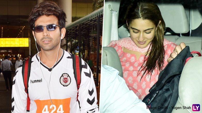 Sara Ali Khan Can't Stop Smiling as She Receives Rumoured Boyfriend Kartik Aaryan at the Airport - See Pics