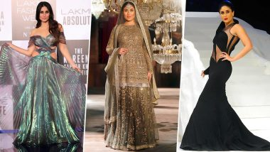 Kareena Kapoor Khan's Iconic Lakme Fashion Week Looks: Check Out Actress' Pics Before Her LFW 2019 Winter/Festive Grand Finale Walk in Gauri & Nainika Design!