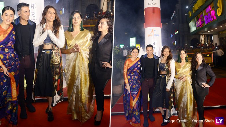 Mission Mangal Special Screening: Akshay Kumar, Sonakshi Sinha, Nithya Menen, Taapsse Pannu, Kirti Kulhari Make A Stunning Appearance, and Delhiites Cannot Contain Their Excitement! Watch Video