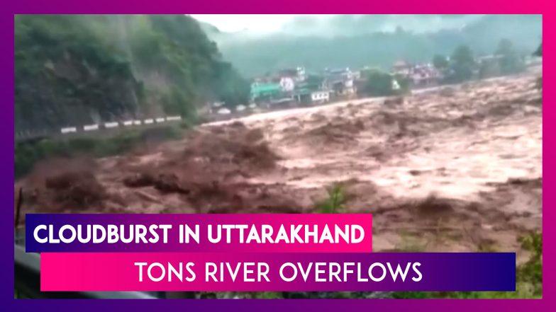 2020 Cloudburst Rain Events.Uttarakhand Cloudburst Heavy Rain Triggers Overflow In Tons River In Uttarkashi Watch Videos From Latestly