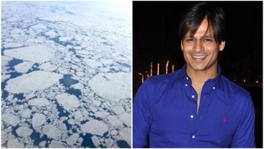 Vivek Oberoi Posts a Glimpse of Polar Region as He Travels on Air India's First Flight Over North Pole (Watch Video)