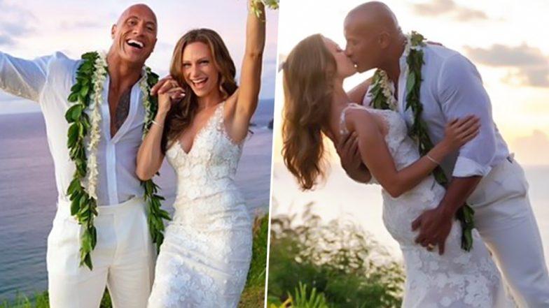 Dwayne 'The Rock' Johnson's Wife Lauren Hashian Rocks the DREAMIEST Wedding Dress for Their Hawaiian Nuptials (View Pics)