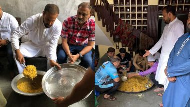 Vadodara Floods: Cricketer Yusuf Pathan Arranges Food for Flood Affected People (See Photos and Video)