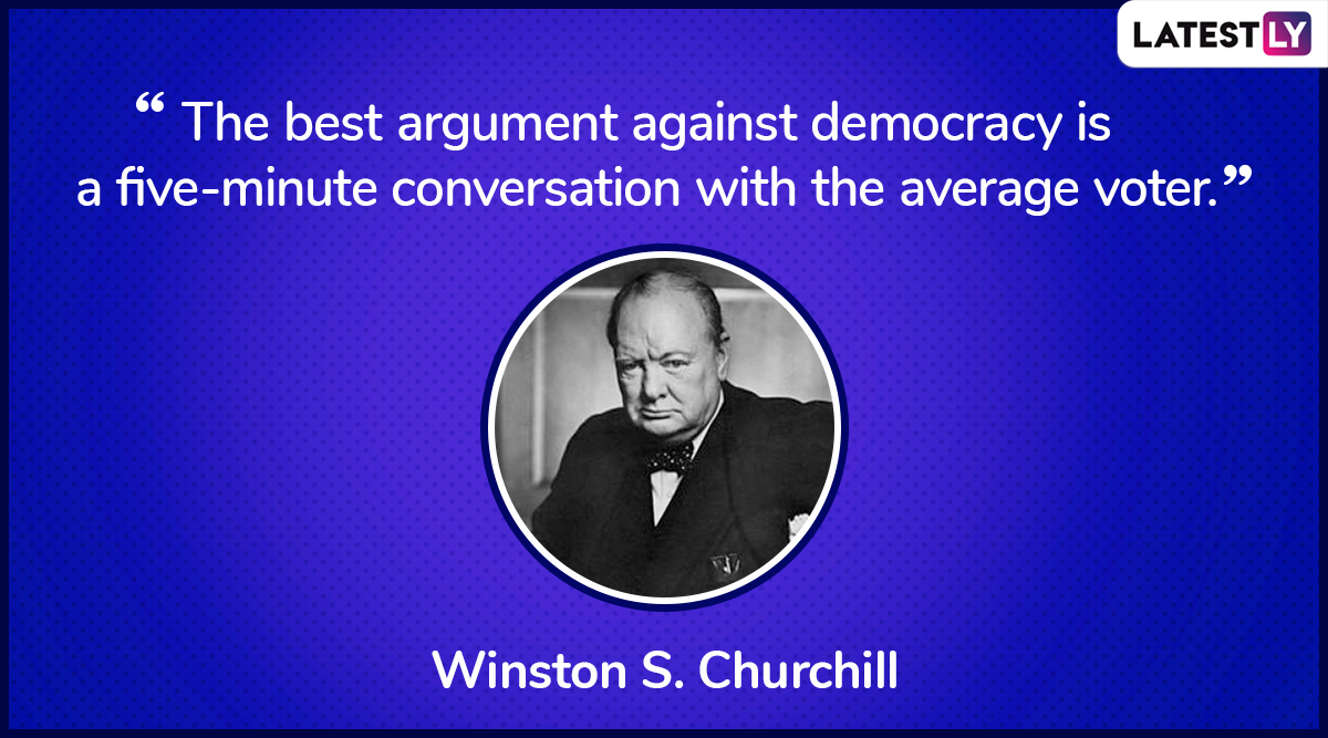 The quote by Winston S. Churchill on democracy. (Photo Credit: File Image)