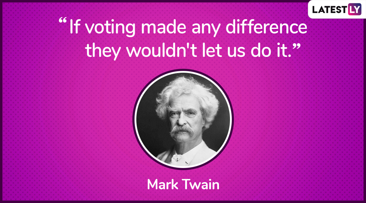 The quote by Mark Twain on democracy. (Photo Credit: File Image)
