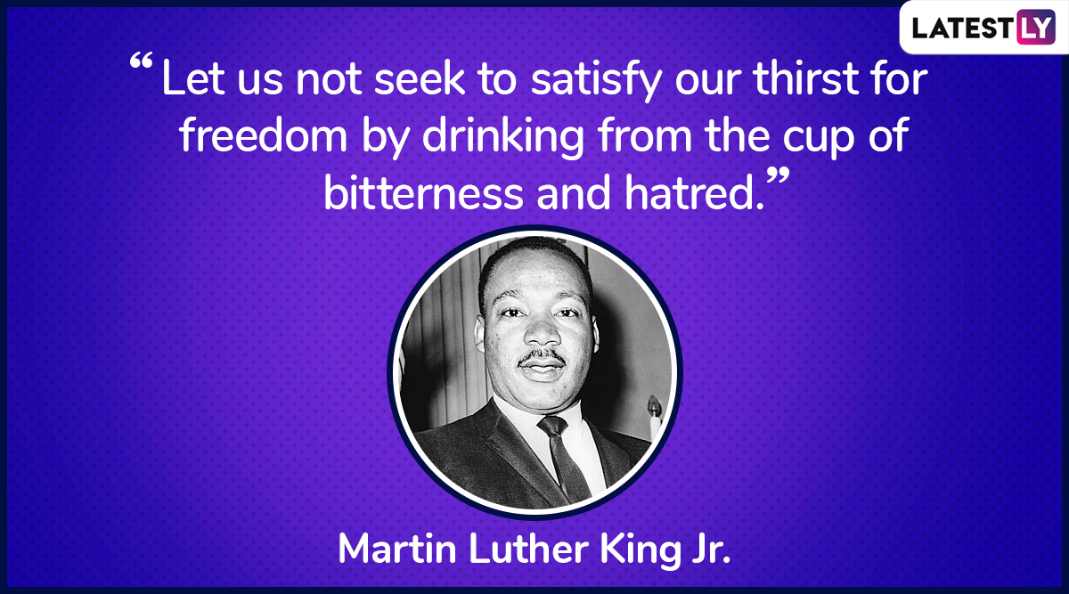 The quote by Martin Luther King Jr. on democracy. (Photo Credit: File Image)