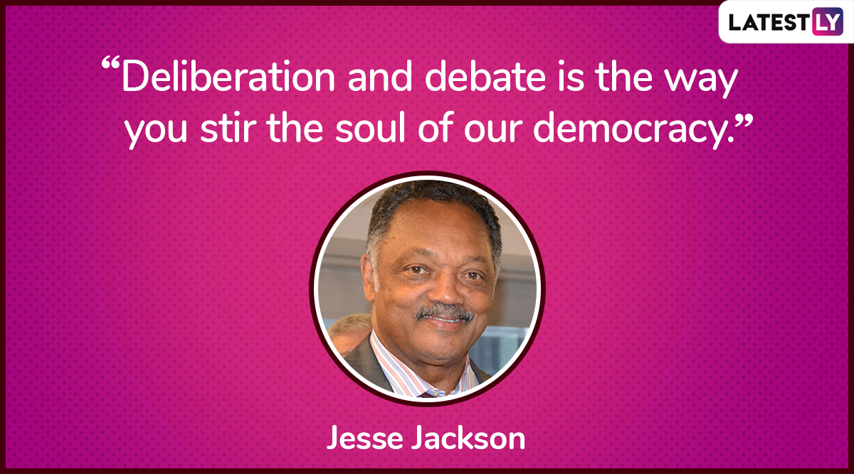The quote by Jesse Jackson on democracy. (Photo Credit: File Image)