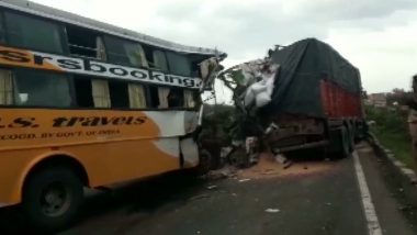 Pune: 6 Dead, Several Injured After Two Buses Collide Near Satara on Pune-Bangalore National Highway
