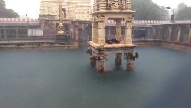 Andhra Pradesh: Mahanandiswara Temple in Mahanandi Gets Flooded After Incessant Rains Lash Kurnool District; Watch Video