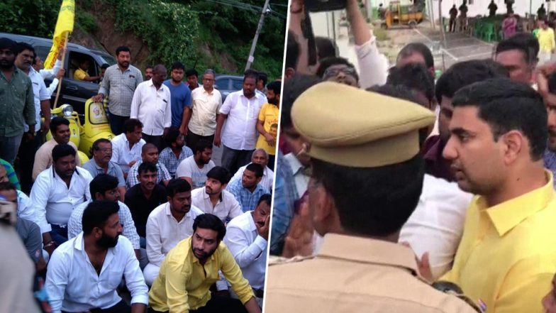 Andhra Pradesh: Chandrababu Naidu, His Son Put Under House Arrest Ahead of TDP's 'Chalo Atmakur' Rally, Section 144 Imposed at Several Places