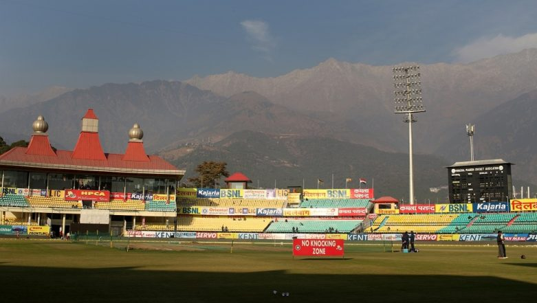 India vs South Africa Opening T20I: HPCA Ground Staff Face Weather Test to Ready Pitch at Dharamsala Stadium