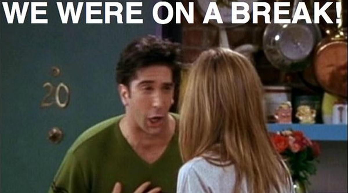 Ross' best line from Friends.
