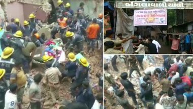 Ahmedabad Building Collapse: Three-Storey Structure Collapses in Amraiwadi Area; Two Dead