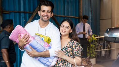 Jay Bhanushali and Mahhi Vij Pose for Shutterbugs As They Take Their Baby Girl Home (View Pics)