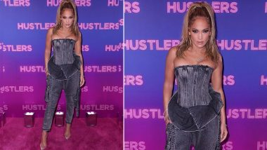 Yo or Hell No? Jennifer Lopez in a Balmain Denim Outfit for Hustlers Screening
