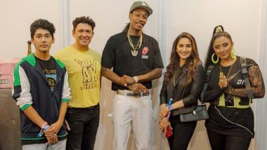 Madhuri Dixit Nene Poses With Wiz Khalifa After Attending the Rapper's Concert in Mumbai - See Picture