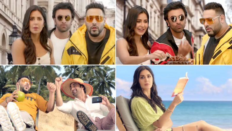 Katrina Kaif and Ranbir Kapoor Take a Beachy Vacation with Badshah in a New Advertisement (Watch Video)