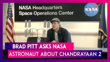Brad Pitt Asks NASA Astronaut Nick Hague About ISRO's Chandrayaan-2 Moon Mission's Vikram Lander