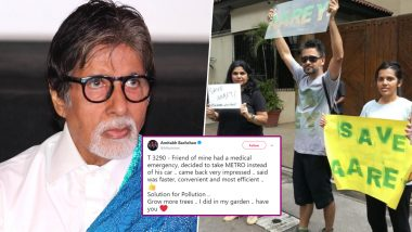 Amitabh Bachchan Faces Backlash for Supporting Mumbai Metro, People Protest 'Save Aarey outside Megastar's Residence