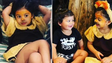 Shahid Kapoor and Mira Rajput's Daughter Misha Turns the Cutest Lion Ever and Poses With Little Brother Zain in These Adorable Pictures