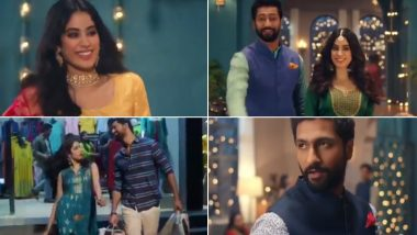 Janhvi Kapoor and Vicky Kaushal's Cute Commercial Together Will Make You Wish They Star in a Rom-Com Together (Watch Video)