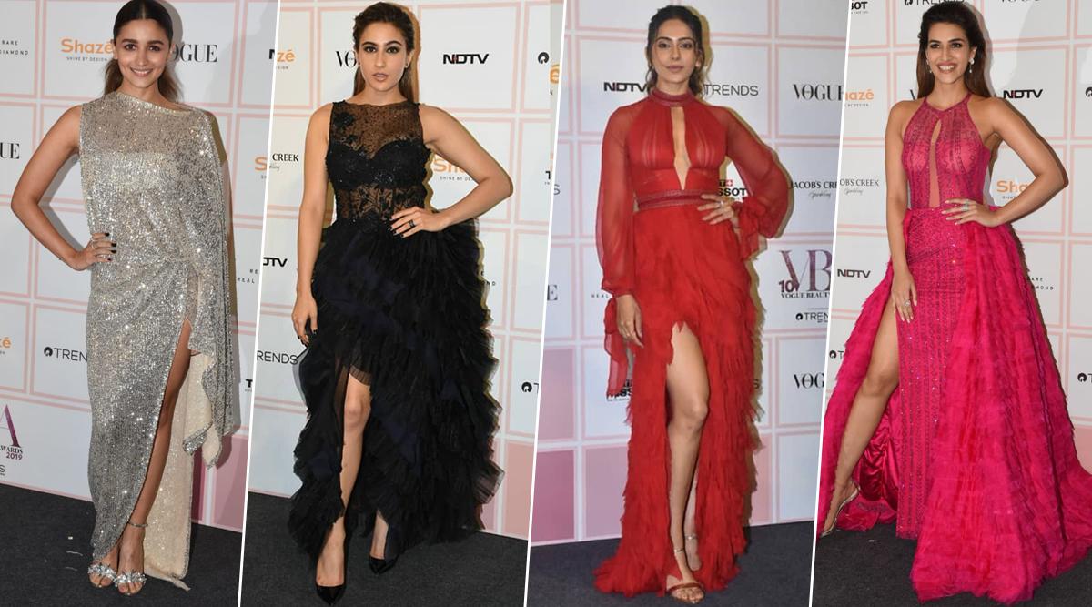 Vogue Beauty Awards 2019: Alia Bhatt, Sara Ali Khan, Rakul Preet Singh Rule the Black Carpet with Their Stunning Outfits (View Pics)