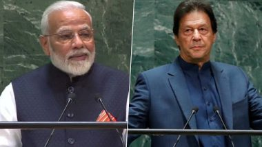 India-Pakistan Face-Off at UNGA: PM Narendra Modi Focuses on Global Issues Including Terrorism, Imran Khan Continues to Rant on Kashmir