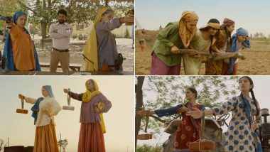 Saand Ki Aankh Song Udta Teetar: Bhumi Pednekar and Taapsee Pannu Get an Energetic Number in the Voices of Sunidhi Chauhan and Jyoti Nooran (Watch Video)