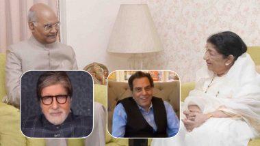 Lata Mangeshkar 90th Birthday: President Kovind, Dharmendra, Amitabh Bachchan and Other Bollywood Celebs Pour Heartfelt Wishes for the Legendary Singer