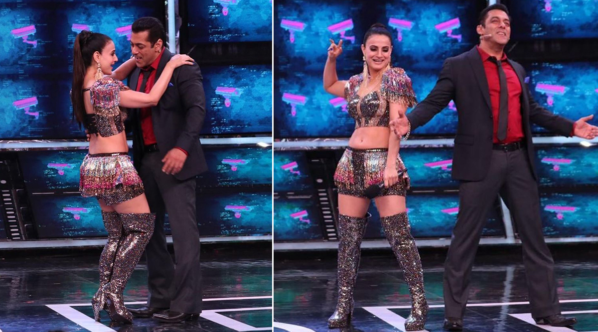 Bigg Boss 13: Ameesha Patel Shakes a Leg With Host Salman Khan on 'Maan Jaa Dilbar' Song From Yeh Hai Jalwa (View Pics)