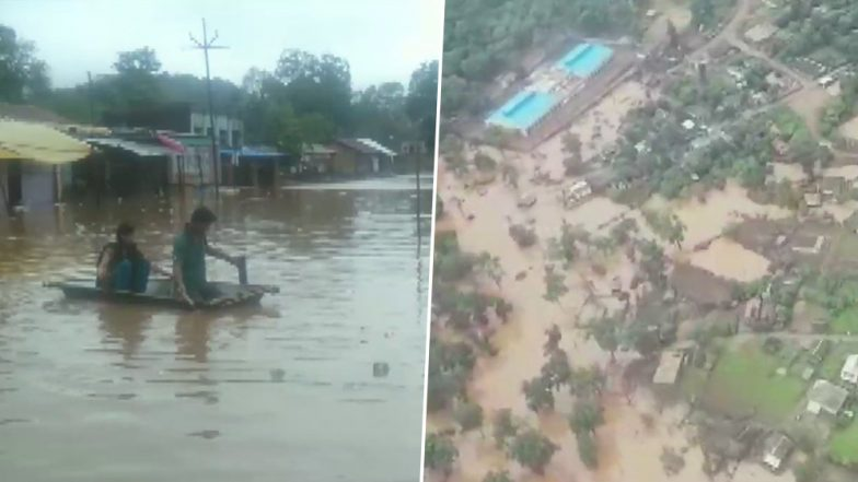 Maharashtra Rains: Gadchiroli Faces Flood-Like Situation, Nearly 765 People Shifted From Kolhapur Villages Due to Heavy Rainfall