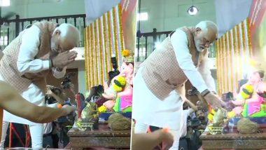 PM Narendra Modi Begins Mumbai Visit With Lord Ganesha 'Darshan', to Launch Metro Projects