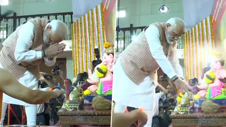 PM Narendra Modi Begins Mumbai Visit With Lord Ganesha 'Darshan', to Launch Metro Projects